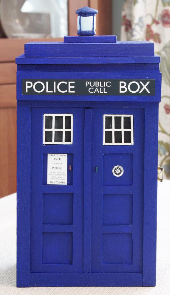 TARDIS Jewelry Box Closed