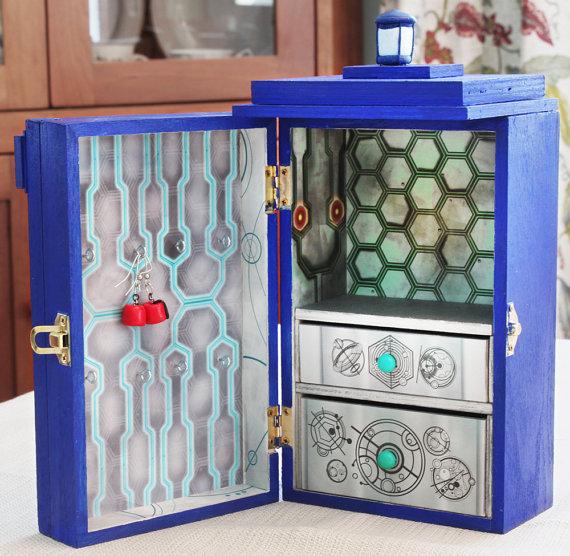 TARDIS Jewelry Box Front