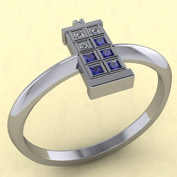 Tardis Ring Single Band