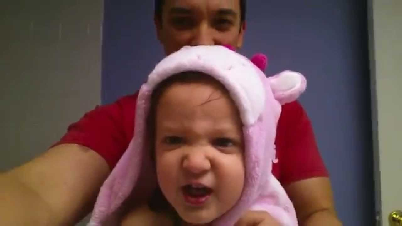 A Darling Two Year Old Girl Sings a Heavy Metal Version of 'The Alphabet Song' After Bathtime