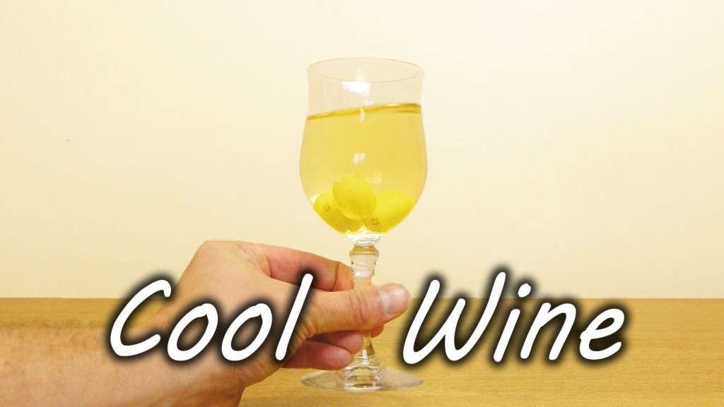 A Simple Way to Chill White Wine Using Frozen Grapes