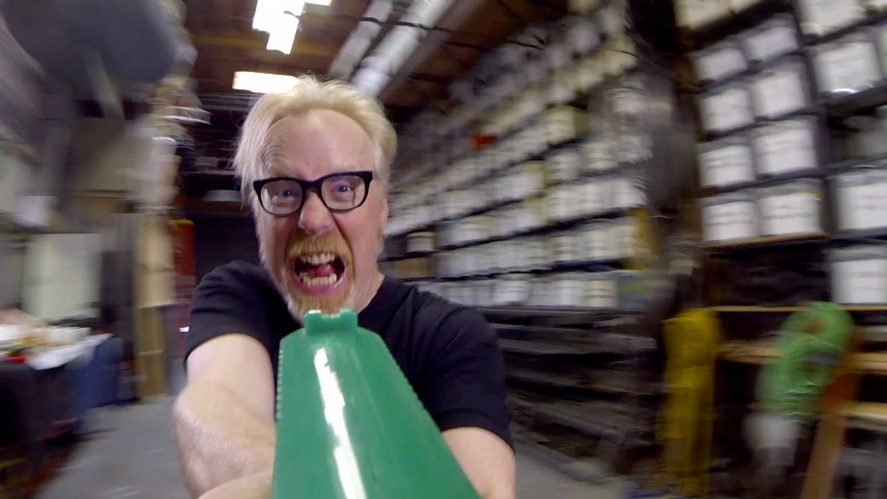 Adam Savage Plays a Level of the Video Game 'Doom' Based on the Real-Life 'MythBusters' Level
