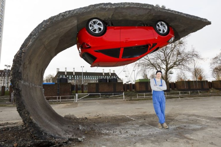 Upside Down Car