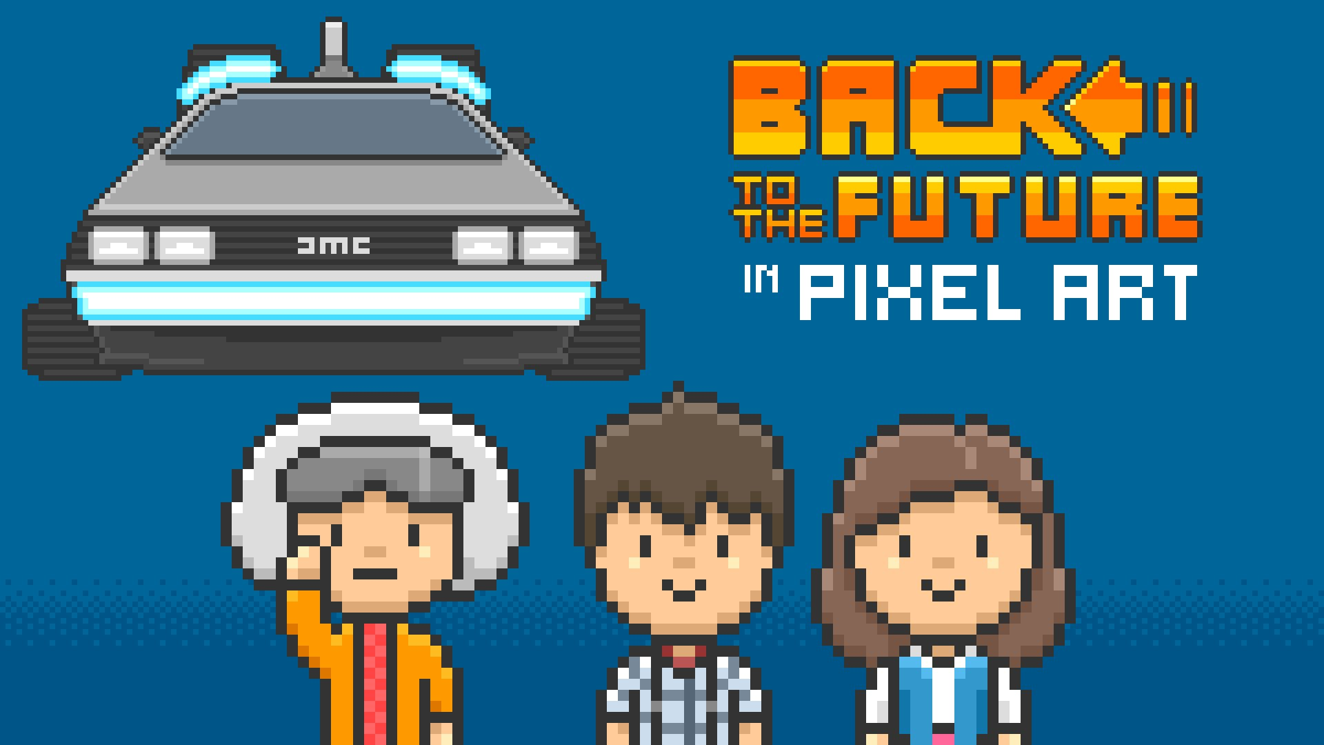 An 8-Bit Animated Version of the Final Scene From Back to the Future
