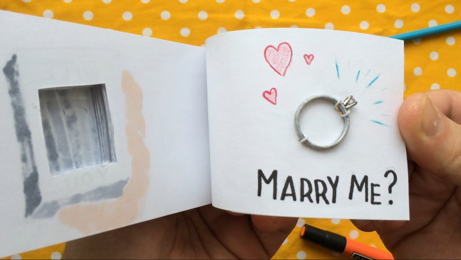 An Adorable HandDrawn Marriage Proposal Flip Book That Conceals an