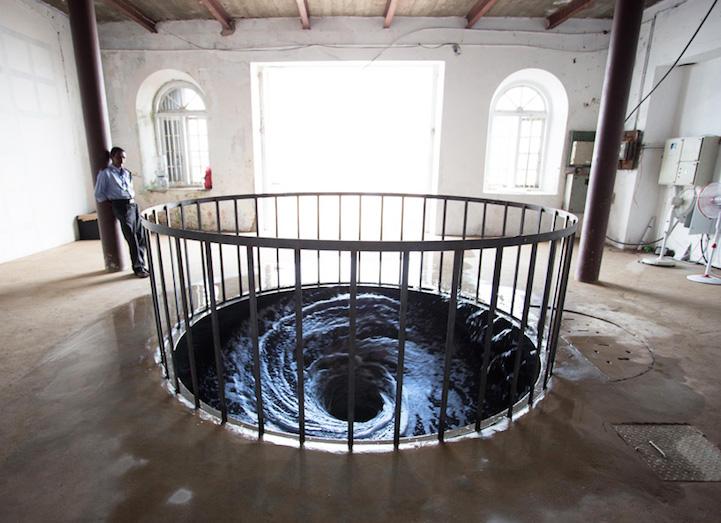 Descension Water Vortex by Anish Kapoor