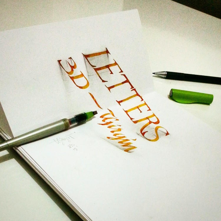 Anamorphic Calligraphy by Tolga Girgin