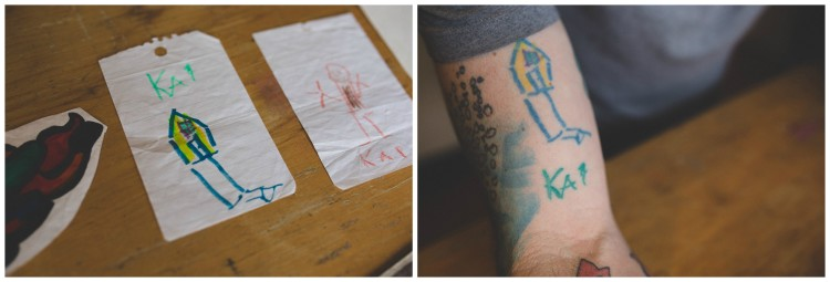 Dad Has Son's Drawings Tattooed on His Arm