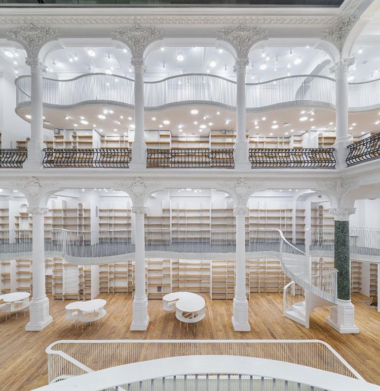 Carousel of Light White Bookstore in Bucharest