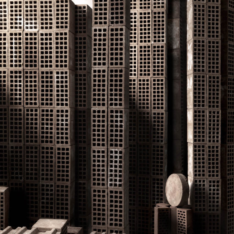 Miniature City of Bricks by Matteo Mezzadri