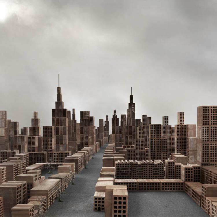 Miniature City of Bricks by Matteo Mezzadri