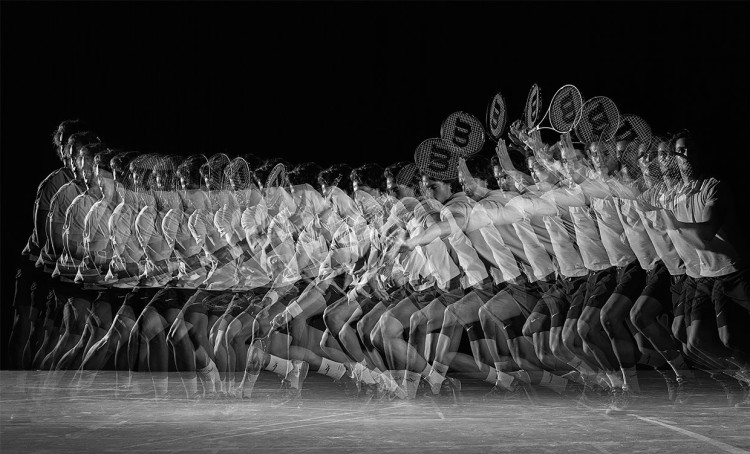 Tennis Players in Long Exposure Photos by Jean-Yves Lemoigne