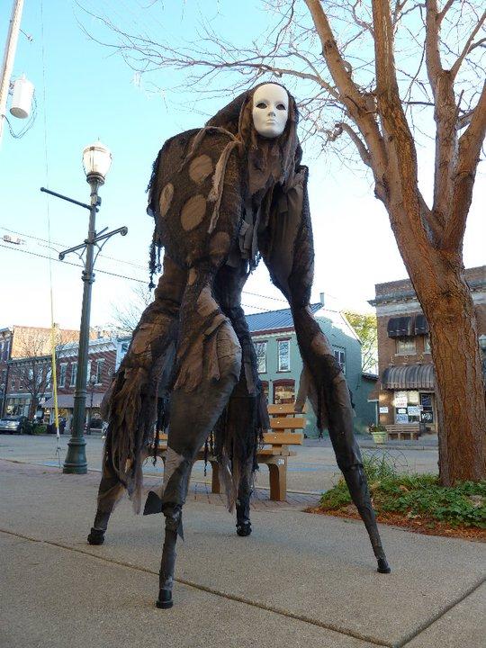 Fantastically Creepy 'Stilt Spirit' Costume Allows the Wearer to