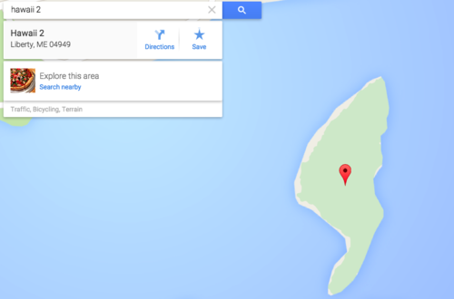 A Google Map of Hawaii 2