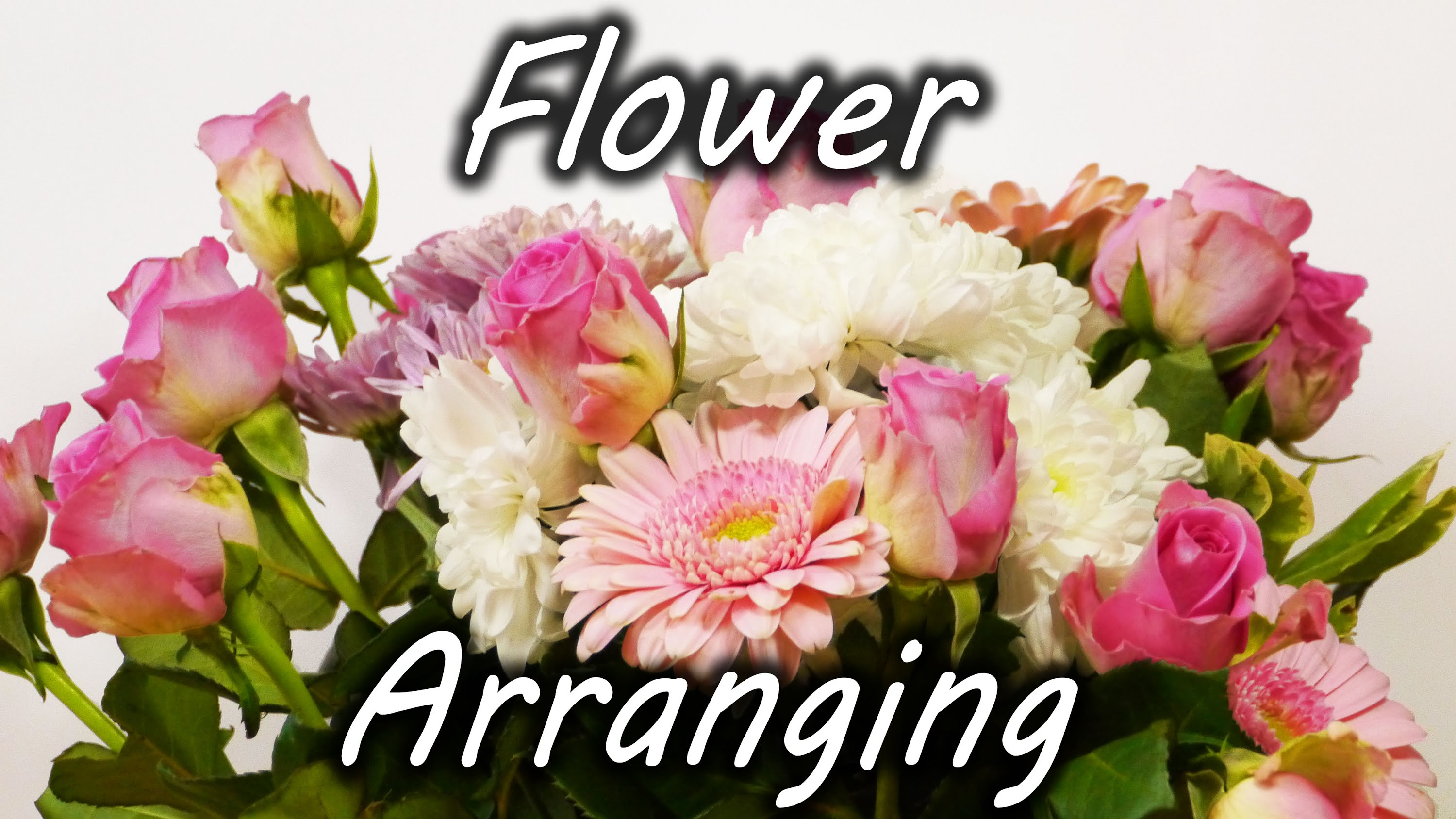 How to arrange a bouquet of flowers in a large vase using strips of tape izmirmasajfo