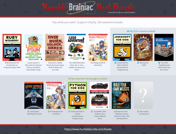 Humble Bundle Pinterest: Humble Brainiac Book Bundle, A Pay-What-You-Want