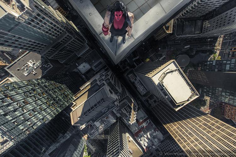 Everyday Superheroes Dangling off a Skyscraper