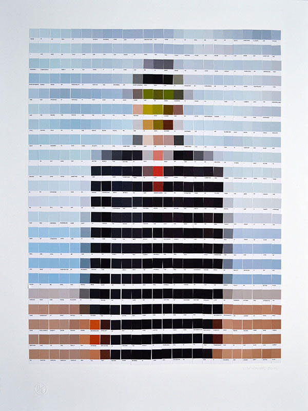 Pantone Color Swatch Paintings by Nick Smith