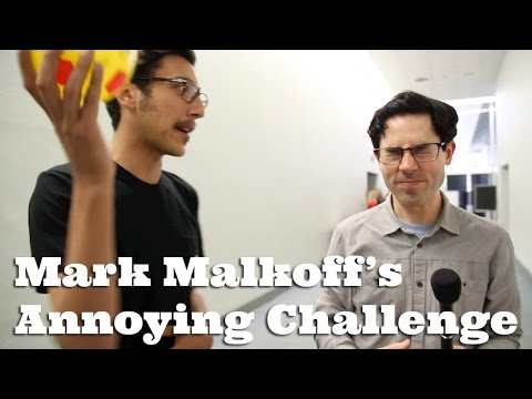 Mark Malkoff Interviews YouTube Stars and Waits for Them to Notice That He's Bouncing a Ball Against Their Heads