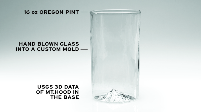 Mt. Hood, The Oregon Pint Glass
