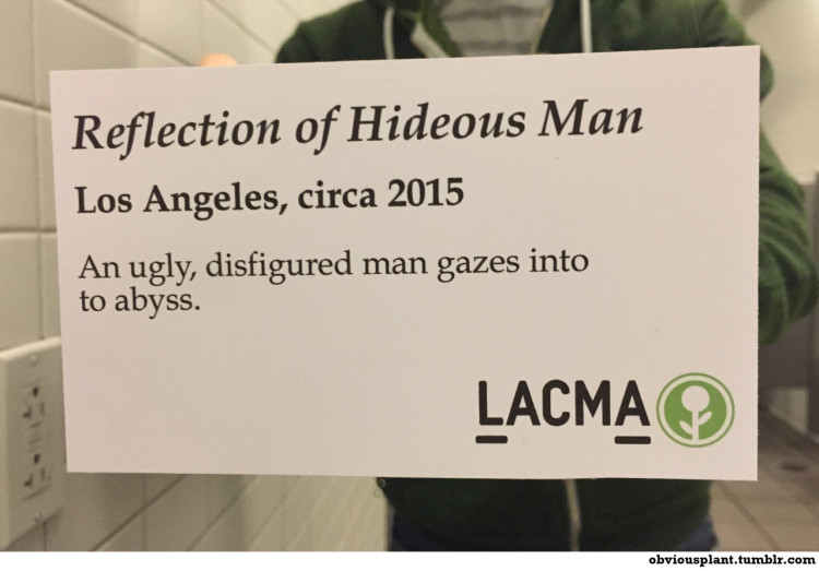 Reflection of Hideous Man