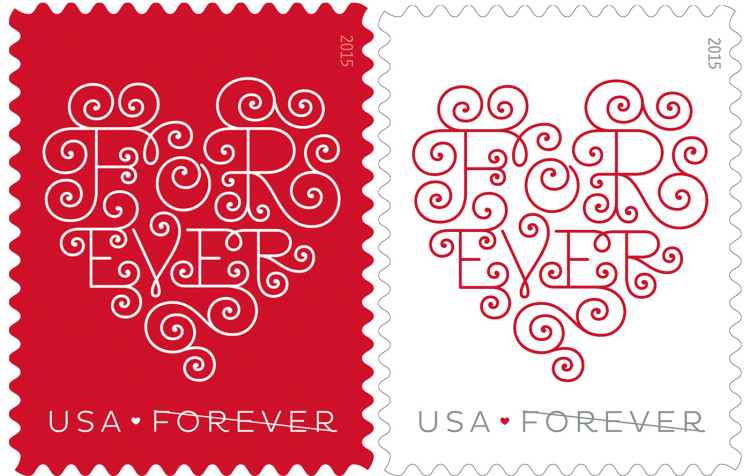 Forever Hearts USPS Stamp