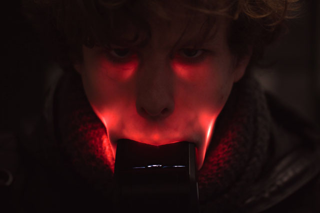 Camera Flash in Mouth Photos by Stijn Eeckhout