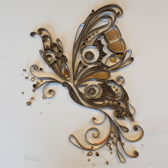 Pizza Box Butterfly by Yulia Brodskaya
