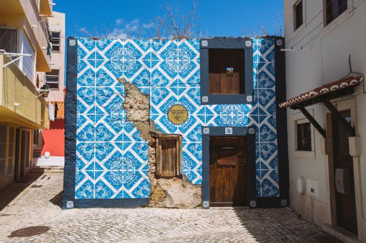 Portuguese Tile Pattern Street Art