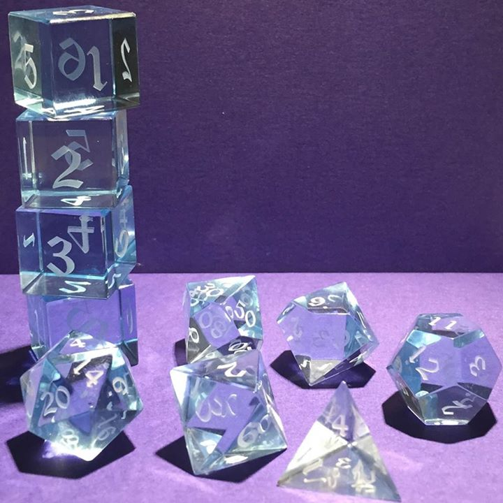 Optically clear dice