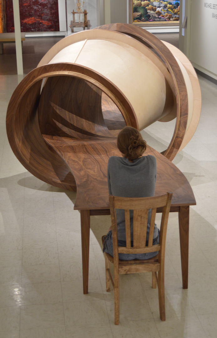 Tangled Wooden Table Sculpture by Michael Beitz