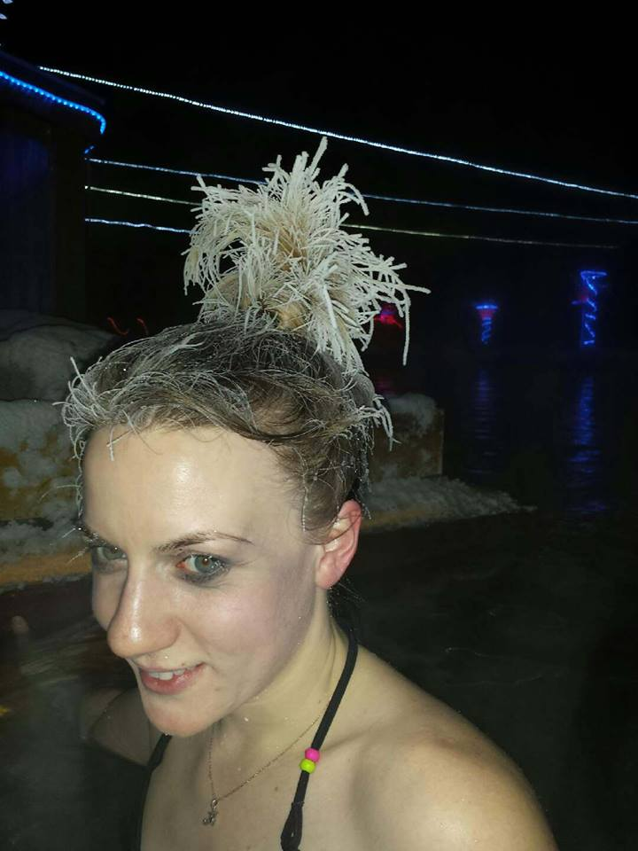 Frozen hair