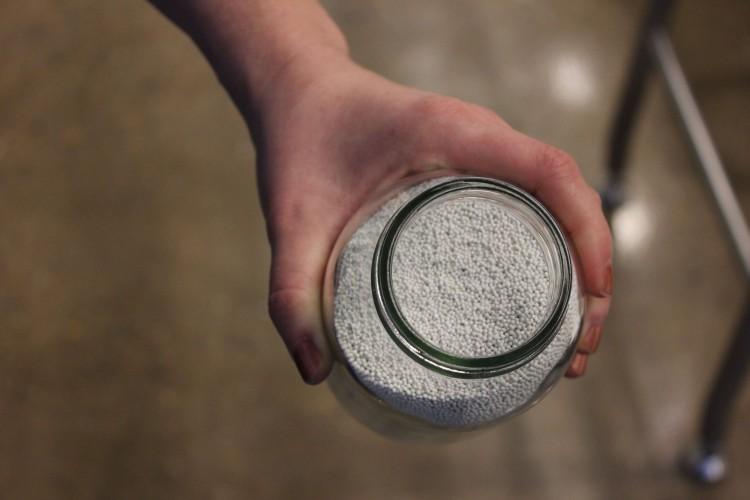 Jar of ceramic balls