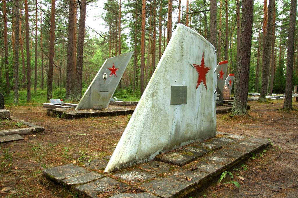 Ämari Pilots' Cemetery, A Spooky Soviet Military Cemetery in Estonia With Aircraft Tail Fins as Grave Markers