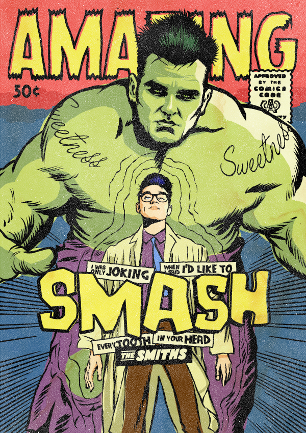 Morrissey of The Smiths as The Incredible Hulk