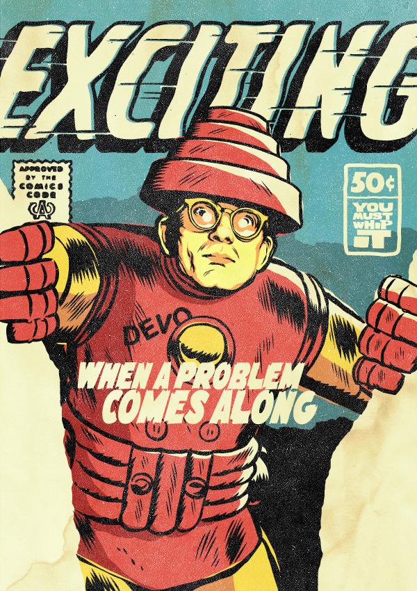 Mark Mothersbaugh of Devo as Iron Man