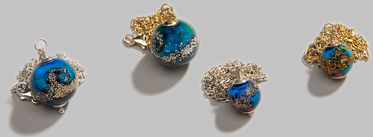 Memorial Ash Beads, Handcrafted Jewelry Made From Cremated Remains of Deceased Loved Ones