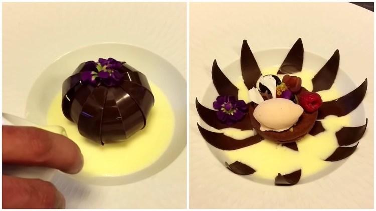 Chocolate Flower Dessert