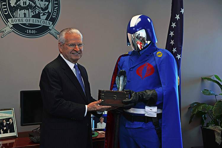 Cobra Commander Receives the Key to the City of Springfield