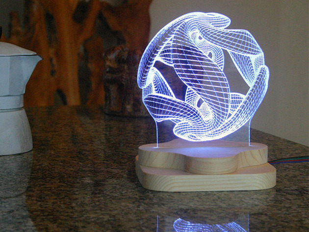 Beautiful 3D Illusion Light Sculptures