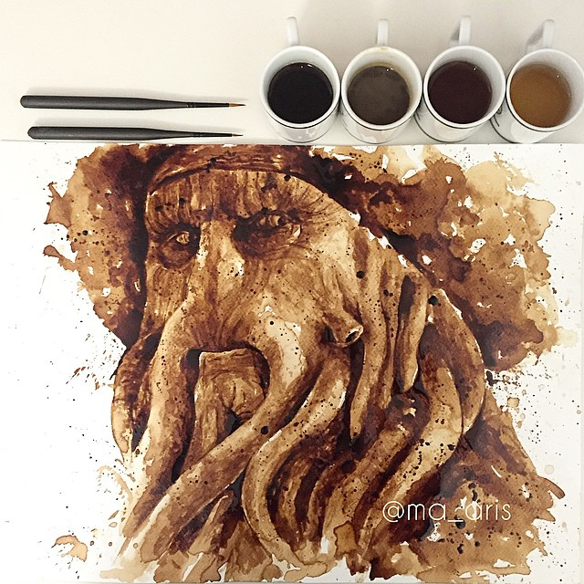Davy Jones Coffee Painting
