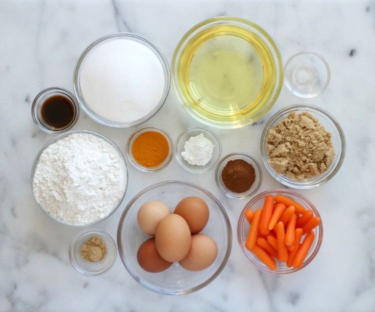 24 carrot cake ingredients