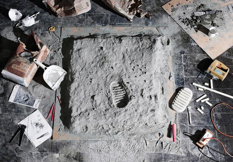 First Footprint on Moon