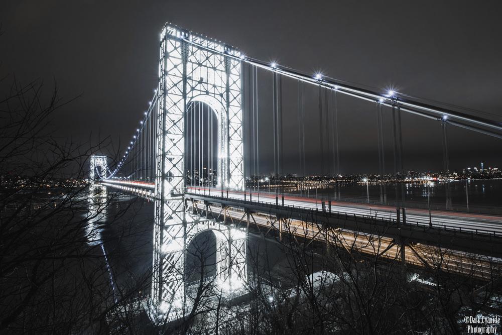 Stunning Night Photos Of The George Washington Bridge