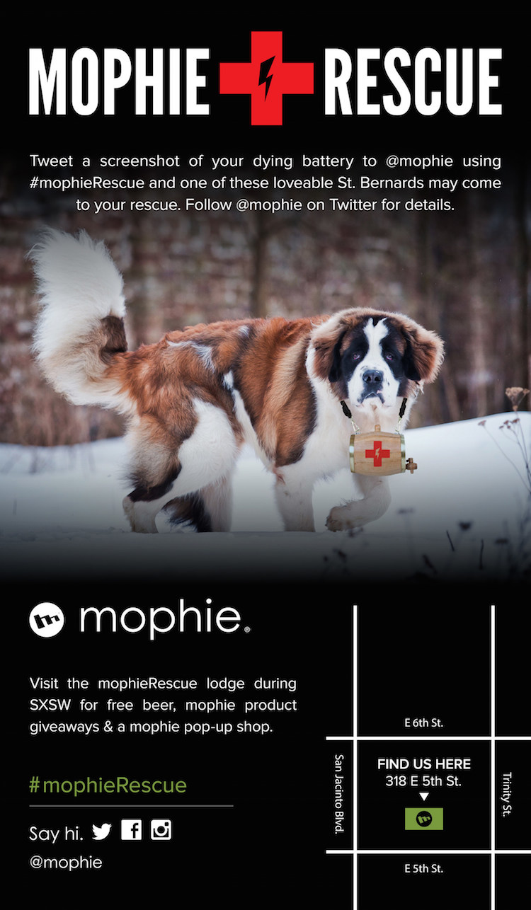 mophieRescue at SXSW 2015 Infographic