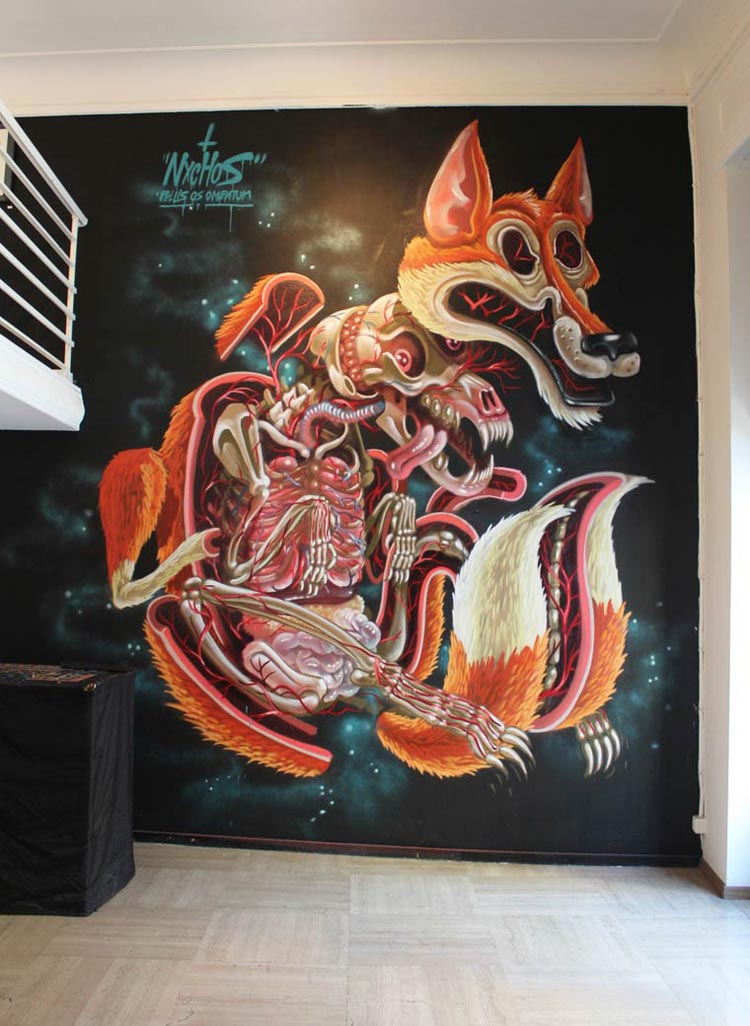 New dissected character murals by nychos for Character mural
