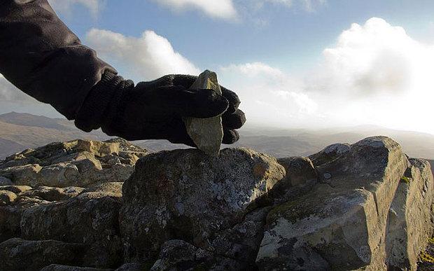Artist Oscar Santillan Removes the Top Inch of England's Tallest Mountain for Art Installation