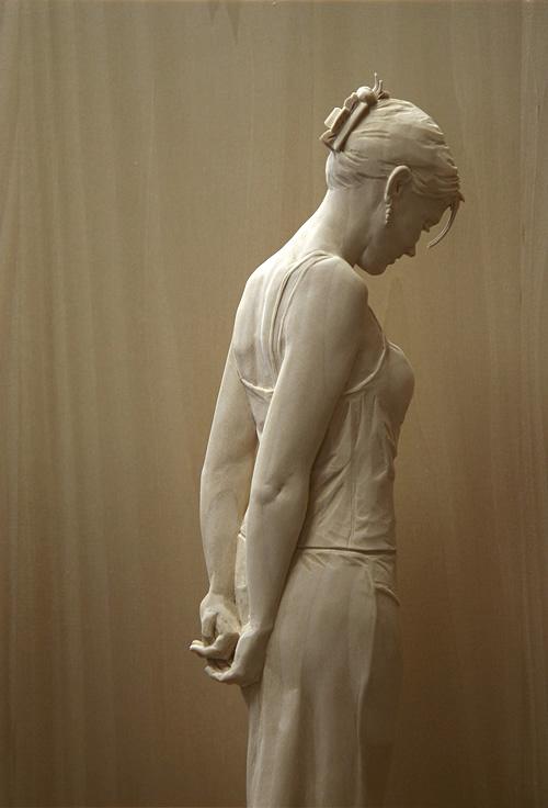 Wooden Figure Sculptures by Peter Demetz
