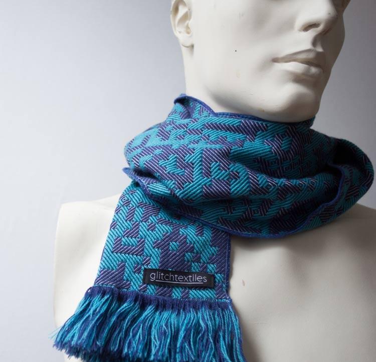 Binary Scarves Glitch Textiles