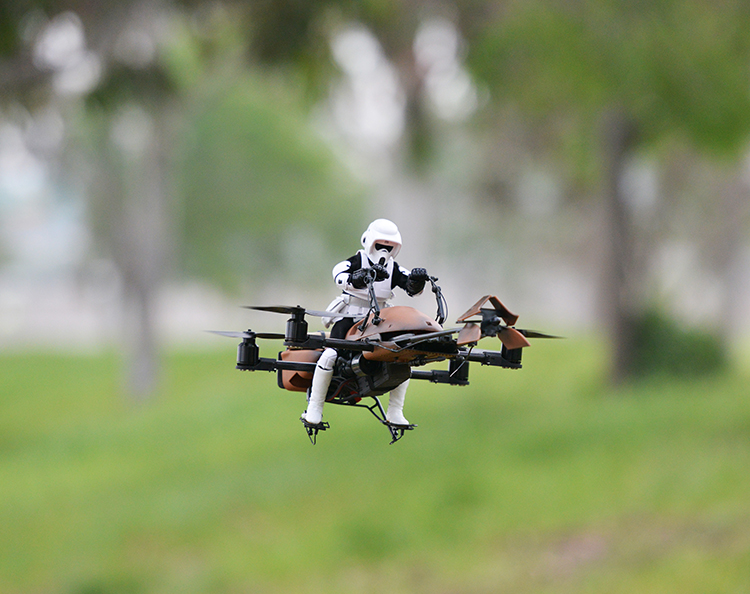 Star Wars Speeder Bike Quadcopter